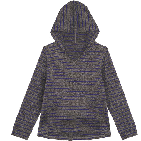 Space Dyed Stripe Hoodie - Deep Royal