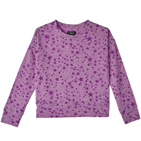 Star Sweat Top - Dewberry