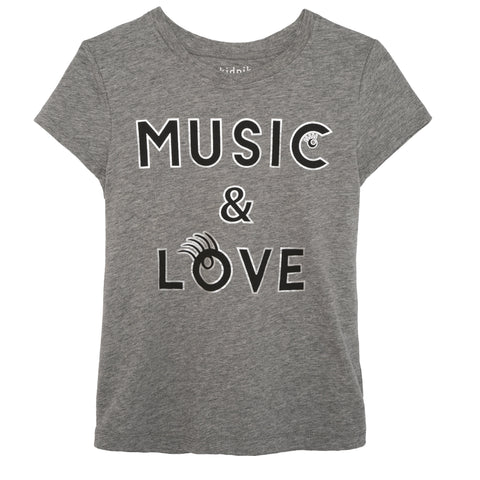 Music Tee - Medium Heather Grey