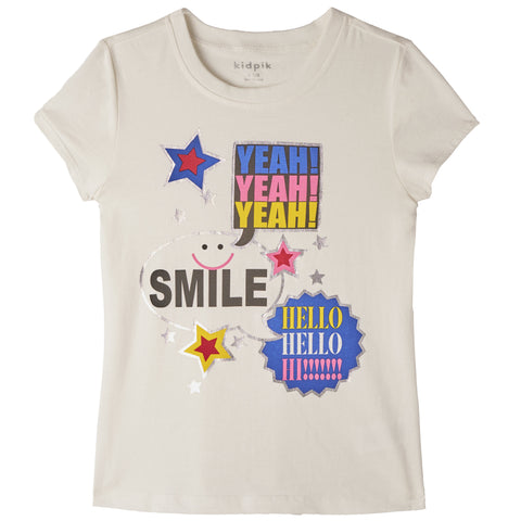 Express Yourself Tee - Kidpik Cream