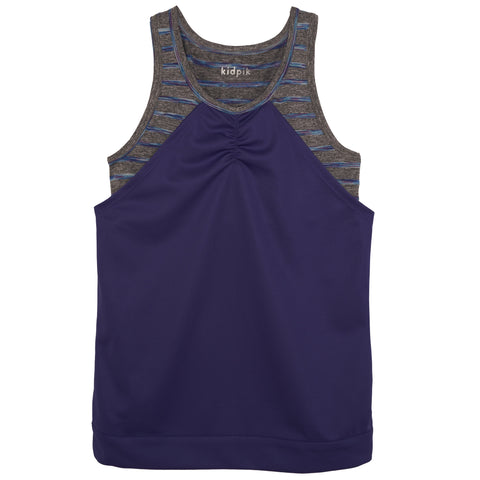 Double Layer Mesh Tank - Deep Royal