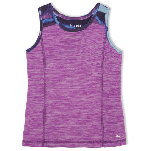 Ombre Stripe Pieced Tank - Dewberry