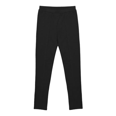 Seamed Ponte Pant - Black