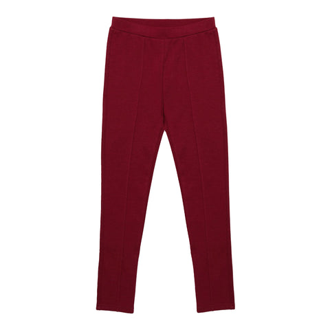 Seamed Ponte Pant - Rumba Red