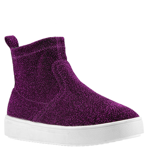 Stretch Sparkle High Top - Pink