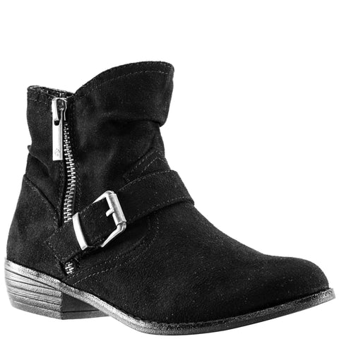 Burnished Buckle Boot - Black