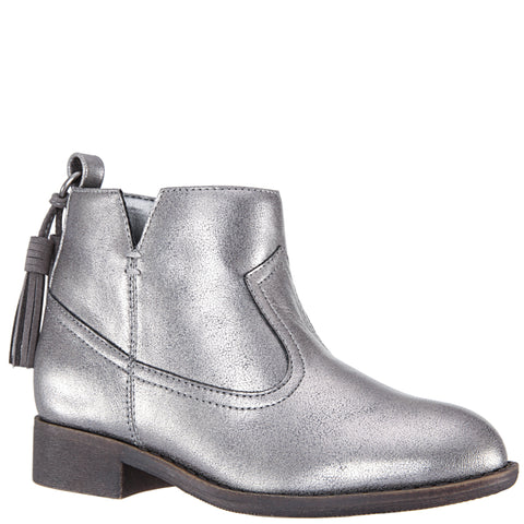 Metallic Tassle Boot - Silver