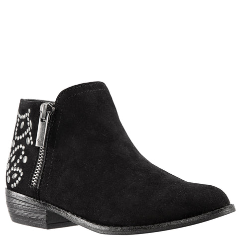 Back Studded Zip Boot - Black