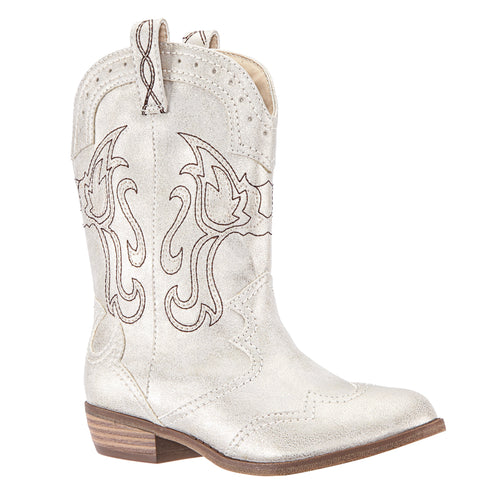 Metallic Cowboy Boot - Platino