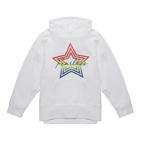 Hooded Fearless Sweatshirt - White