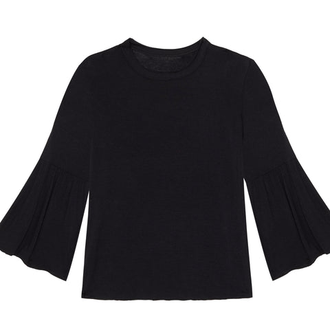 Bell Sleeve Top - Black