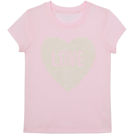 Love Heart Graphic Tee - Ballerina