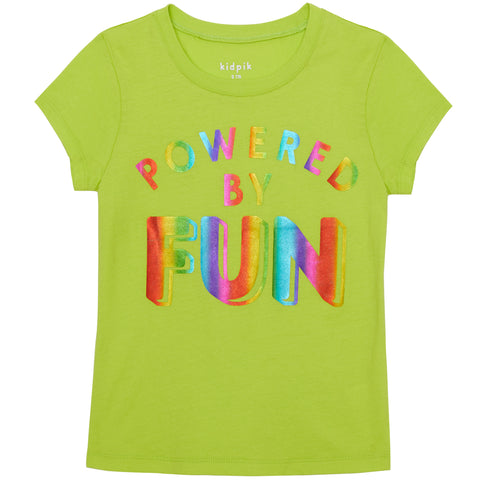 Fun Powered Graphic Btee - Acid Lime