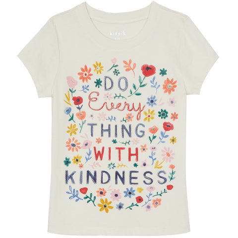 Kindness Graphic Tee - Kidpik Cream