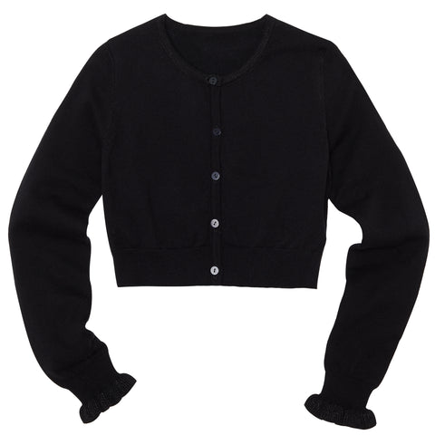 Ruffle Bolero Sweater - Black