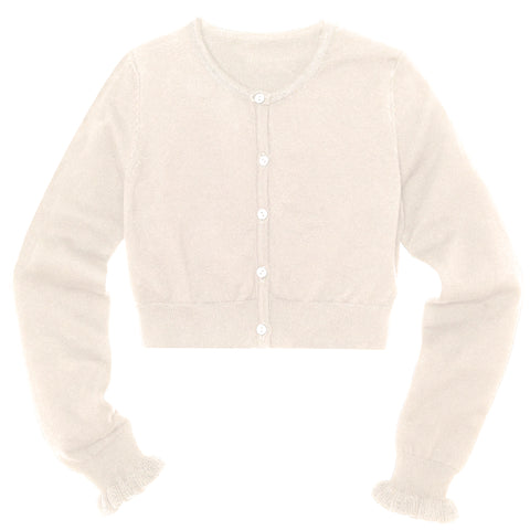 Ruffle Bolero Sweater - Kidpik Cream