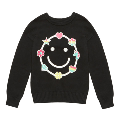 Printed Sweater - Black