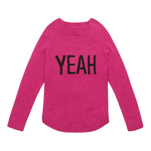 Verbiage Sweater - Festival Fuchsia
