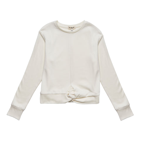 Twisted Fleece Top - Kidpik Cream