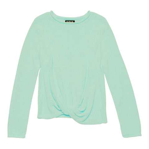 Chenille Twisted Sweater - Dusty Jade Green