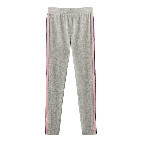 Lurex Side Taped Pant - Light Heather Grey