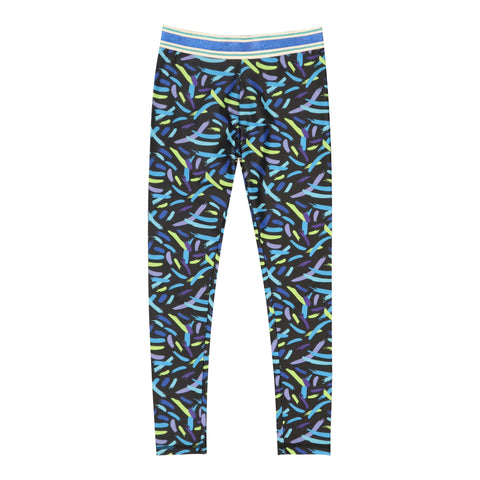 Brush Stroke Legging - Aquatic Blue