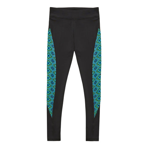 Optic Pieced Legging - Black
