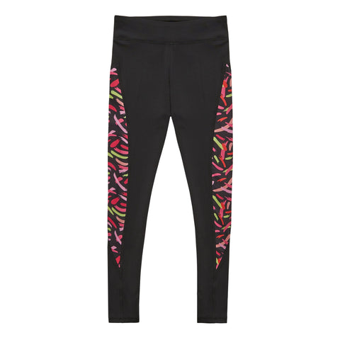Brush Stroke Pieced Legging - Black