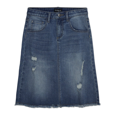 Sycamore Denim Skirt - Sycamore Wash