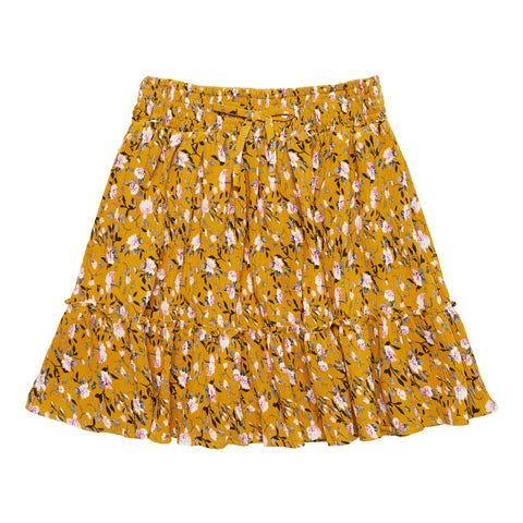 Mini Pleated Floral Skirt - Mango Mojito