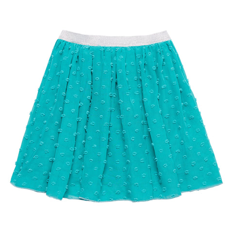 Textured Dot Chiffon Skirt - Biscay Bay