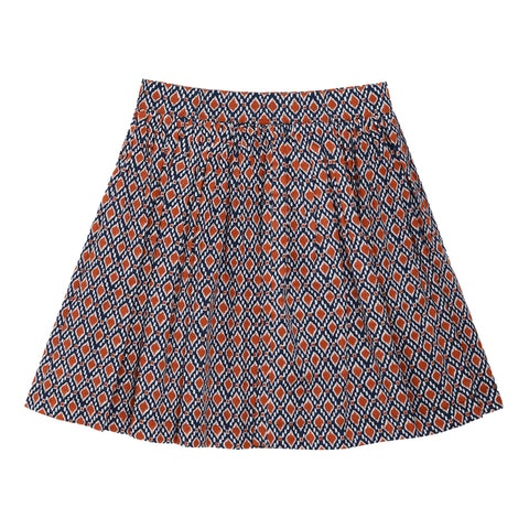 Geo Puff Skirt - Kidpik Navy