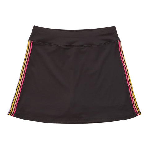 Multi Stripe Active Skort - Black