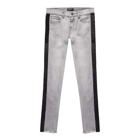 Sparkle Velvet Taped Smoky Jean - Pine Wash
