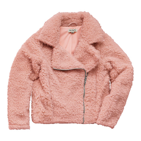 Sherpa Rocker Jacket - Rose Tan