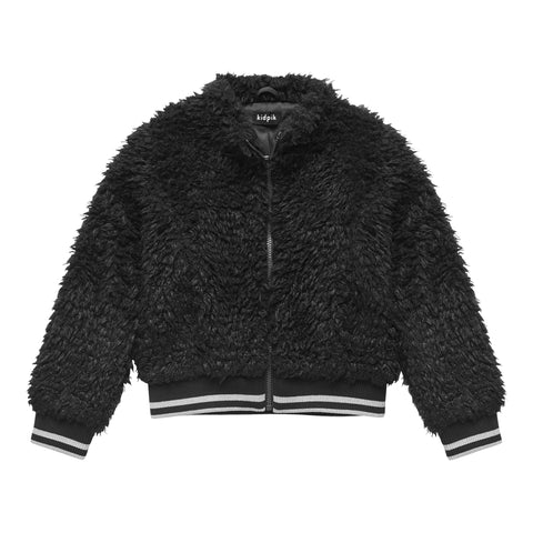 Sherpa Bomber Jacket - Black