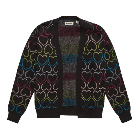 Lurex Heart Cardigan - Multi