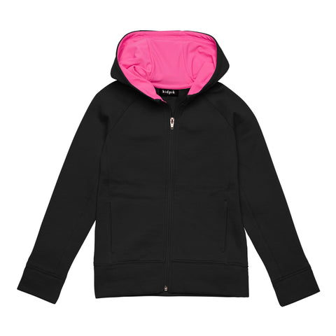 Active Fleece Cardigan - Black