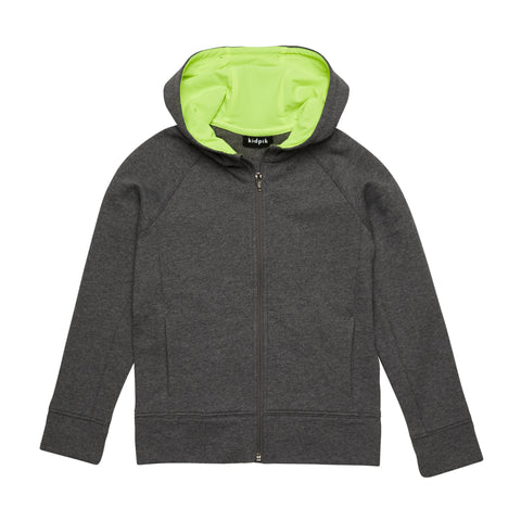 Active Fleece Cardigan - Dark Heather Grey