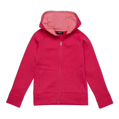 Active Fleece Cardigan - Pink Peacock