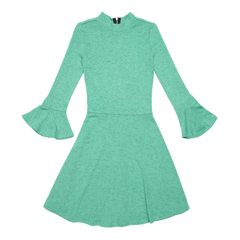 Marled Bell Sleeve Dress - Opal