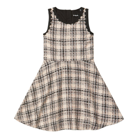 Boucle Plaid Skater Dress - Potpourri