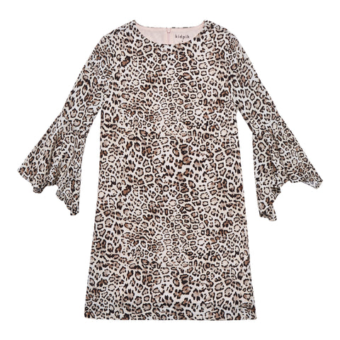 Leopard Bell Sleeve Dress - Nomad