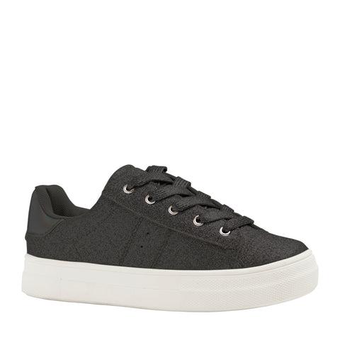 Baby Glitter Side Up Zip Sneaker - Black