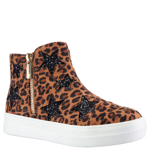 Leopard Star High Top Sneaker - Nomad
