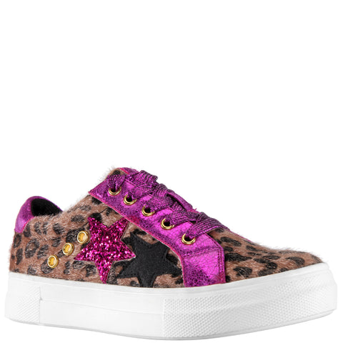 Animal Metallic Sneaker - Pink Peacock