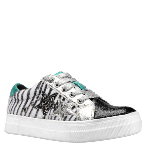 Animal Metallic Sneaker - Capri
