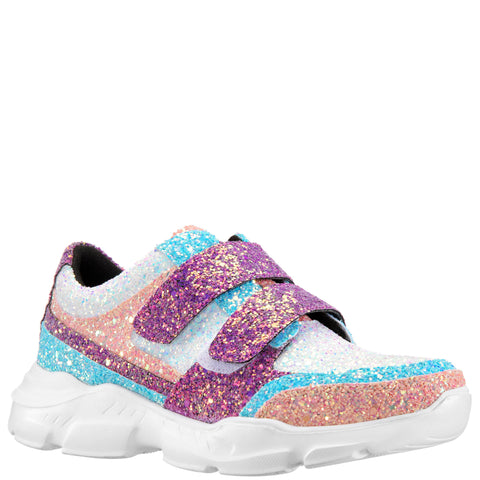 Color Block Chunky Glitter Sneaker - Multi