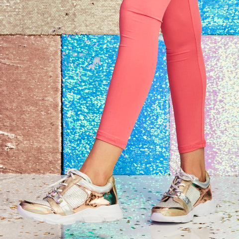 Mesh Jeweled Sneaker