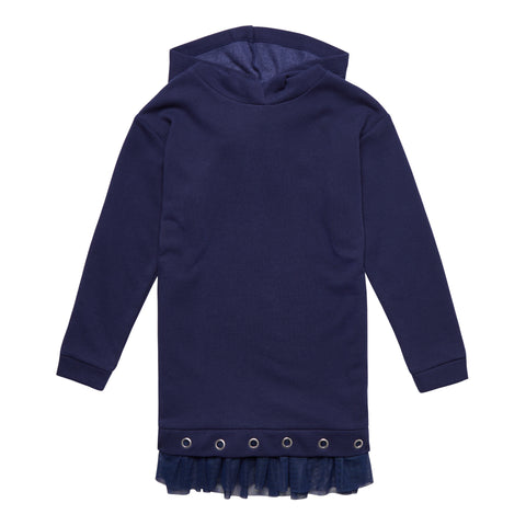 Grommet Fleece Tunic - Kidpik Navy